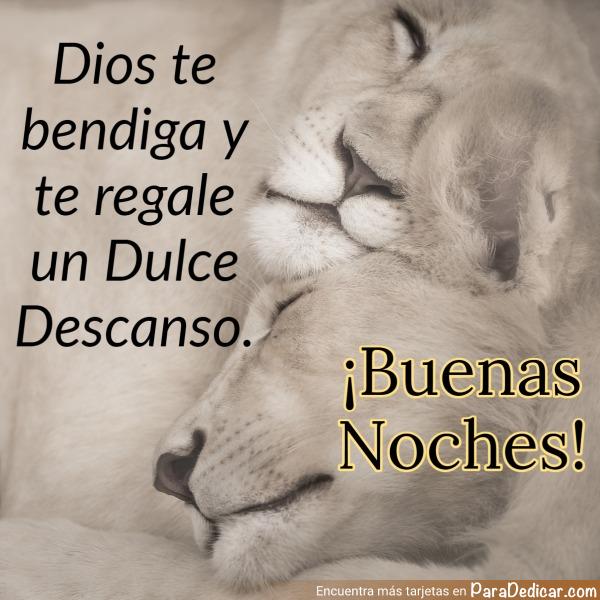 Tarjeta de Dios te bendiga y te regale un Dulce Descanso. ¡Buenas Noches!