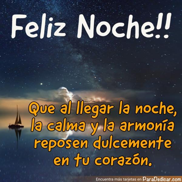 Tarjeta de Feliz Noche!!