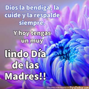 Tarjeta de Dios la bendiga,  Y hoy tengas un muy lindo Día de las Madres !!