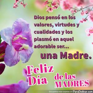 Tarjeta de Feliz Día de las MADRES.