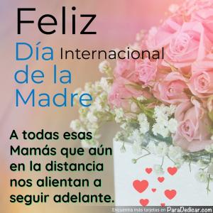 Tarjeta de Feliz Día internacional de la Madre.